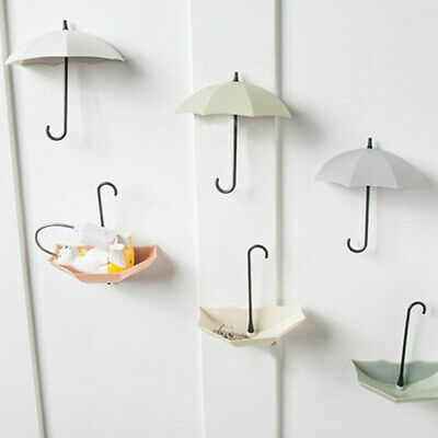 6X COLORFUL UMBRELLA WALL HOOK KEY COIN HAIR PIN HOLDER ORGANIZER WELT