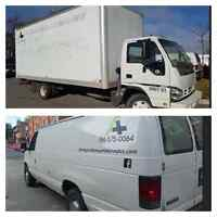 20' CUBE TRUCK AND CARGO VAN READY FOR MOVING SERVICES