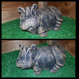 Mini Hippo Garden Ornament
