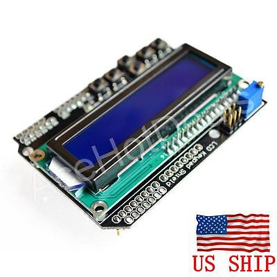 1602 16x2 Character Lcd Keypad Shield Lcd Display Module Blue Screen For Arduino