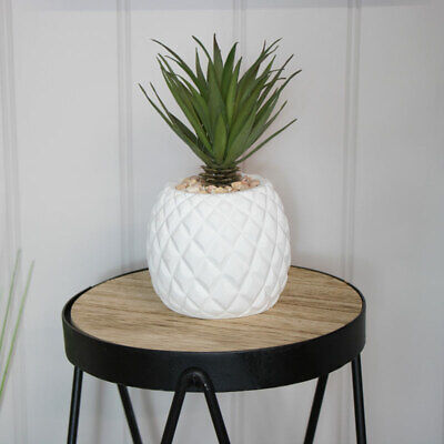 Artificial pineapple potted faux succulent plant gift home decor accessories