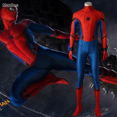 Spider Man Homecoming Cosplay Peter Benjamin Parker Costume Halloween Superhero - Mens Superhero Costumes