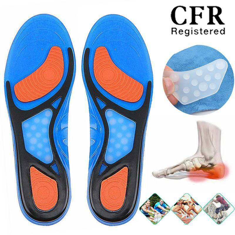 Unisex Silicone Sport Insoles Orthotic Arch Support Sport Shoe Pad Running Gel I