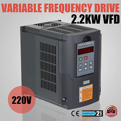 Neu 3HP 2.2KW VFD Frequenzumrichter Variable Frequency Drive Inverter HY 220V