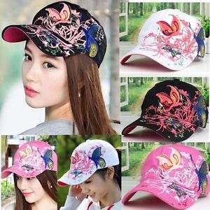 Women-039-s-Applique-Flower-Rhinestone-Baseball-Cap-Bling-Adjustable-Hats-Fashion