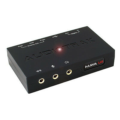 AUDIOTRAK MAYA U5 USB 5.1 Channel External Optical Audio Sound Card Laptop PC