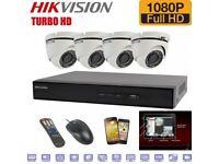 4x Camera Hikvision 1080p HD CCTV System