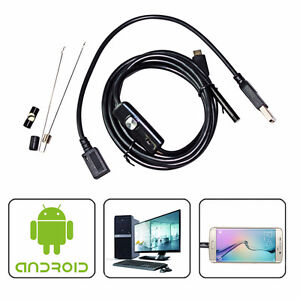 6LED 7mm Lens Endoscope Waterproof Inspection Borescope Camera