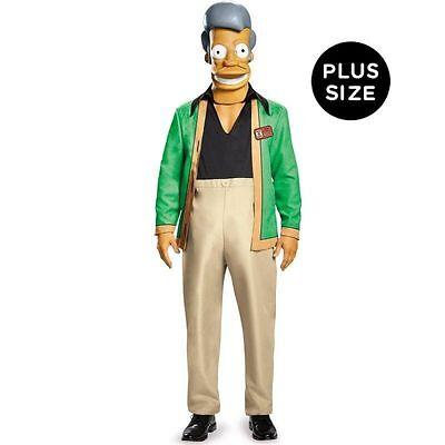MENS The Simpsons DELUXE Adult Apu Kwik E Mart Costume PLUS SIZE XXL, 2XL 50-52 (Apu Costume)