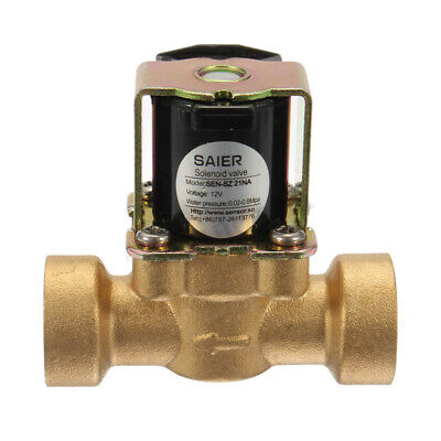 Dc 12v Mini Dn15 G12 Normally Closed Solenoid Valve 2-way Brass Fluid Control
