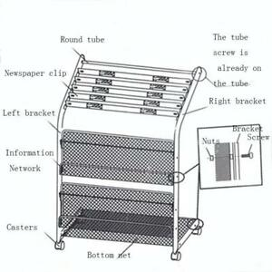 File Holder Organizer Magazine Rack Newspaper Rack Holder Document Filing System032004