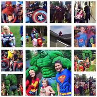Les Super Héros disponible pour la fête de votre enfant !