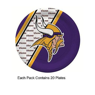 Minnesota Vikings Party Supplies (New 20pc NFL Disposable Party Supplies Paper Plates Minnesota)