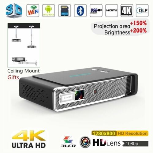 Akaso 8500Lumens Android 3D DLP Home Theater 4K HD 1080P Pro