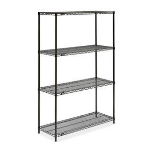 black wire shelving unit  48x18x72