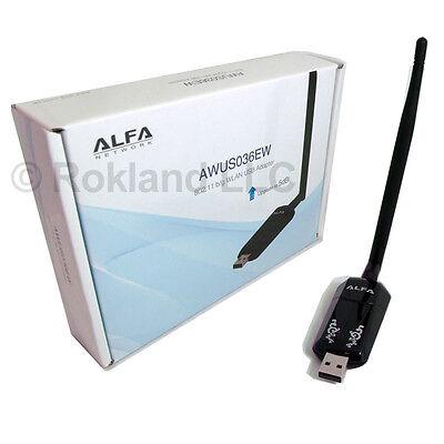 Alfa 500mW USB Adapter Realtek RTL8187L AWUS036EW 5dBi