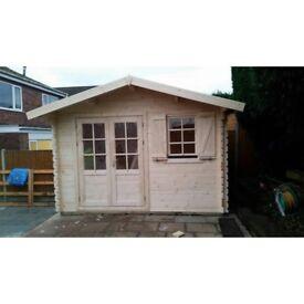 Garden building, Summer house , log cabin (13 X 10 FT, 28 MM)