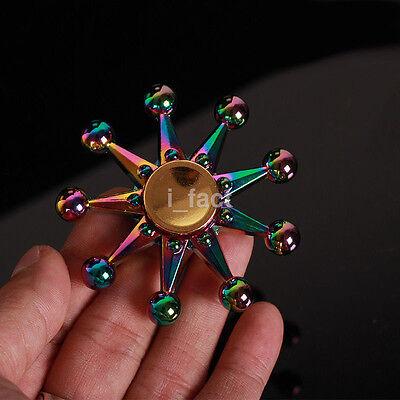 Fidget Spinner Hand Spinner Rainbow Colorful Star Finger Focus Desk Spin Toys US