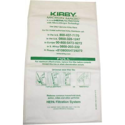 Kirby Vacuum Cleaner Bags Hepa Cloth Sentria II F Style Micron Magic (2 Bags) ()