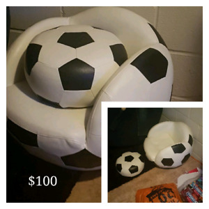 Kids soccer chair and other things