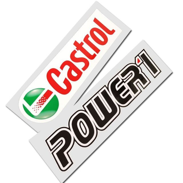 Castrol power 1 motorcycle decals custom graphics stickers x 2 pieces
