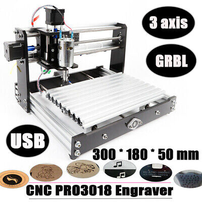 Mini Cnc 3018 Router Spindle Engraving Machine Diy Pcb Milling Drill Woodworking