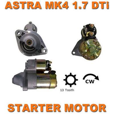 VAUXHALL ASTRA MK4 00-05 1.7 DTI/CDTI DIESEL  QUALITY STARTER MOTOR