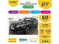 NISSAN QASHQAI RED HATCHBACK 1.2 1.4 1.6 DIG-T N-VISION FROM £77 PER WEEK!