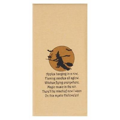 Set of 2 Raghu Home Collections Halloween Witch Cotton Tea Towels