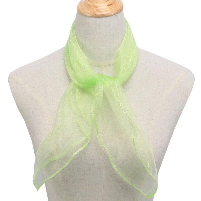 Women Silk Square Scarf Ladies Plain Neckerchief Head Neck Wrap Scarves Hair Tie Clothing, Shoes & Accessories