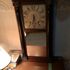 Clock With Wooden Works