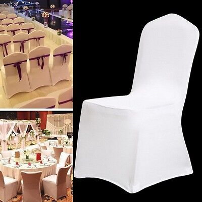 1/10/20/50/100 Spandex Folding Seat Chair Covers Wedding Dining Party - Wedding Seating