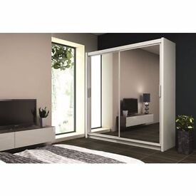 New -- 2 Door Sliding Mirror Wardrobe -- Same Day Delivery -- Cheap Price