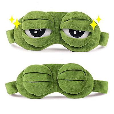 3D Anime Schlafende Ruhe Schlaf Augenmaske Pepe Der Frosch Sad Frog Gifts #DE06