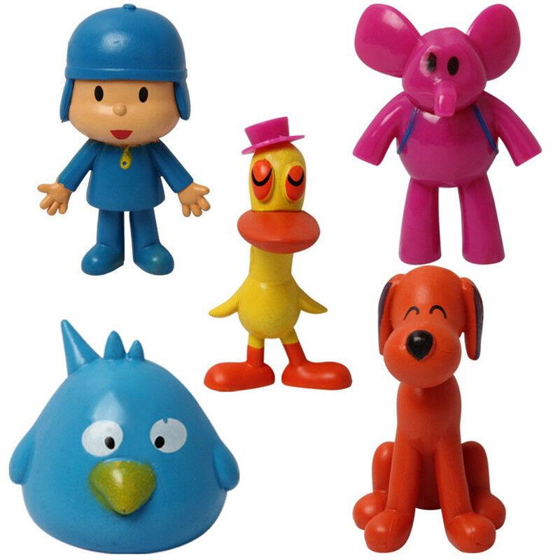 5pcs Cartoon Pocoyo Pato Elly Loula Sleepy Bird PVC Action Figures Kids Toy Gift