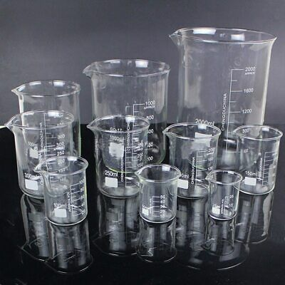 Glass Beaker Chemistry Experiment Labware For School Laboratory Equipment 5pcs