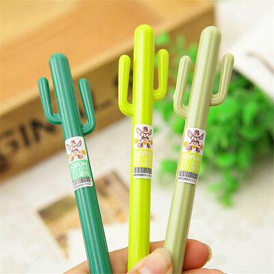 2/5/10pcs Creative Cute Cactus Shape Student School Stationery Gel Pen Xmas Gift - Christmas Pens