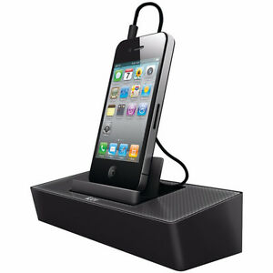 BNIB iLuv Modern Box Portable Speaker Stand-Black