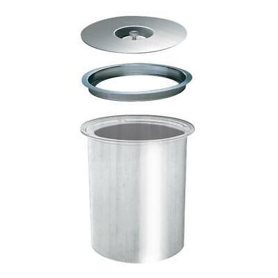 WESCO Ergo Master 5 L edelstahl Einbau Abfallsammler für Arbeitsplatte Mülleimer (Mülleimer Arbeitsplatte)