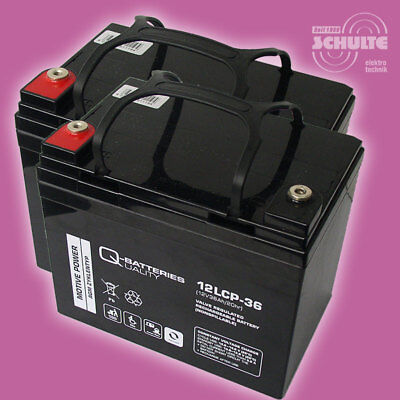 Akkus Batterien für Seniorenmobil E-Mobil Cottbus Sapphir, 2 x 12V 36Ah Blei AGM