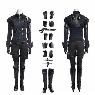 Avengers Infinity War Black Widow Cosplay Costume Custom Made (Black Widow Cosplay)