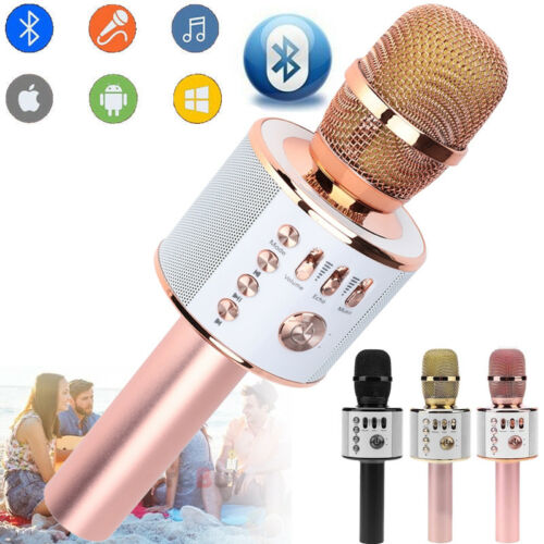 Q37 Wireless Microphone Speaker Bluetooth KTV Karaoke USB+Bo
