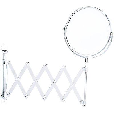 Sichler Beauty Scheren Rasier- & Kosmetik-Wandspiegel, 2-fache Vergrößerung