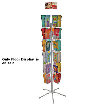 Metal 48 Pocket Wire Literature Display Rack 5.25w X 8.5h Inch With Metal Base