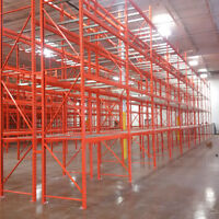 We have a large stock of new and used pallet racking
