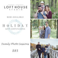 Photography Christmas Gift Certificates