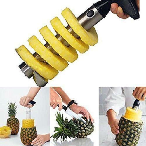 Fruit Pineapple Corer Slicer Cutter Peeler Stainless Steel E
