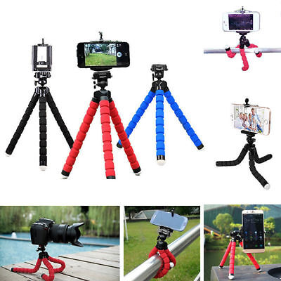 Universal New Flexible Stand Tripod Mount Holder For Phone Camera iPhone Samsung