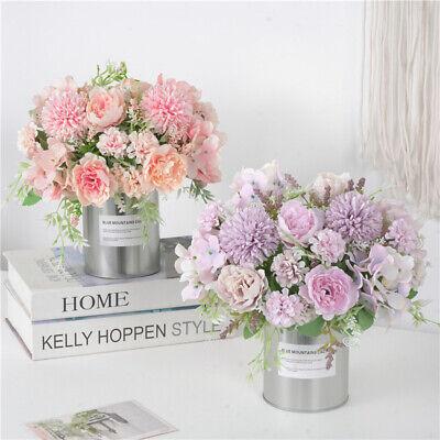 Home Decoration - Artificial Fake Flowers Bunch Bouquet Home Wedding Party Garden Outdoor Decor TR
