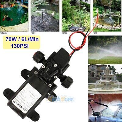 12v Dc Water Pump Automatic Switch 130psi 6lmin 70w High Pressure Diaphragm Us